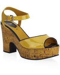 Fendi Cecilia Platform Sandals - Lyst