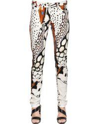 Roberto Cavalli Printed Cotton Denim Jeans - Lyst