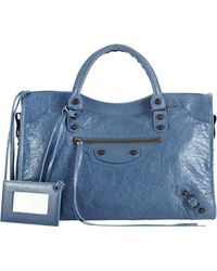Balenciaga Classic City Bag Denim Blue - Lyst