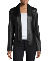 Neiman Marcus - Shawl-Collar Leather Jacket - Lyst