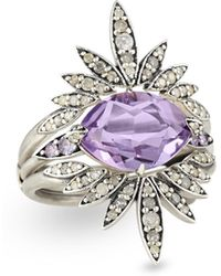 Alexis Bittar Fine - 3-in-1 Convertible Ring With Amethyst - Lyst
