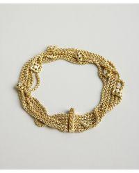 David Yurman Gold and Diamond Quatrefoil Multi Strand Bracelet - Lyst