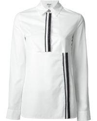 Kenzo Paneled Shirt - Lyst