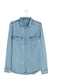 Mango Vintage Denim Shirt - Lyst