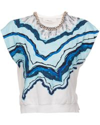 3.1 Phillip Lim Animal Kingdom Top with Crystal Collar - Lyst