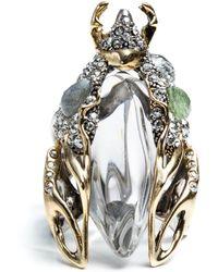 Alexis Bittar Jardin Mystã¨Re Scarab Beetle Ring silver - Lyst