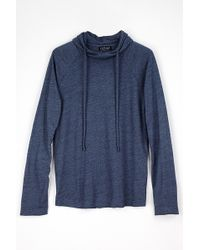 Velvet By Graham & Spencer Trace Marble Jersey Hoodie blue - Lyst