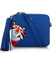 Anya Hindmarch Frosties Leather Cross-Body Bag blue - Lyst