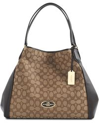 Coach Signature Edie Shoulder Bag - Lyst