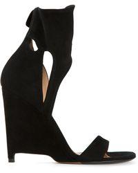 Agnona - Cut Out Wedge Sandals - Lyst