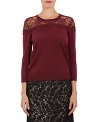 Erdem Floral Lace Yoke Manon Jumper Sweater - Lyst