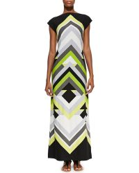 Melissa Masse Printed Luxuryjersey Maxi Dress - Lyst