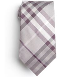 Burberry Pale Lilac Check Silk Tie - Lyst