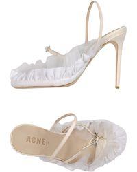 Acne Studios Sandals white - Lyst
