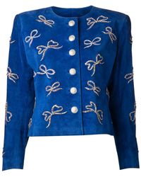 Yves Saint Laurent Vintage Bow Embellished Jacket - Lyst