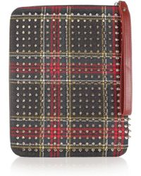 Christian Louboutin Cris Spiked Twill Ipad Case - Lyst