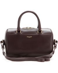 Saint Laurent Duffle 3 Mini Leather Bowling Bag - Lyst