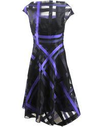 Lela Rose Fil Coupe Dress - Lyst