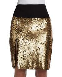 DKNY Sequined Skirt - Lyst