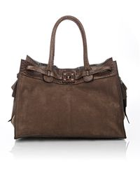 Zagliani | Python-trimmed Gatsby Large Tote | Lyst