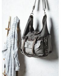 Free People Womens Reign Leather Bag gray - Lyst