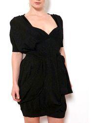 Coven Black Lurex Dress - Lyst