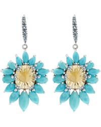 Stephen Dweck - Silver Citrine And Turquoise Metropolis Earrings - Lyst