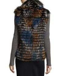 Gorski - Fox Fur Shawl-collar Vest - Lyst