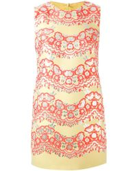 RED Valentino Floral Embroidered Shift Dress - Lyst