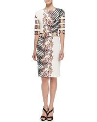 Etro Elbow-Sleeve Static & Paisley-Print Dress - Lyst