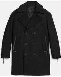 COACH | Rip And Repair Wool Officer Coat | Lyst