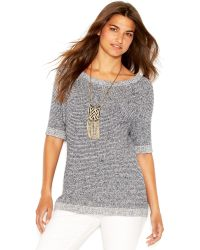 Lucky Brand Jeans Lucky Brand Elbow-Sleeve Knit Top - Lyst