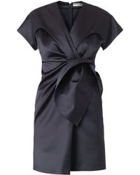 Balenciaga Duchesssatin Gatheredfront Dress - Lyst
