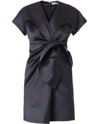 Balenciaga Duchesssatin Gatheredfront Dress - Lyst