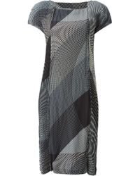 Issey Miyake Abstract Printed Dress - Lyst