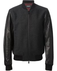 DSquared2 Panelled Bomber Jacket - Lyst