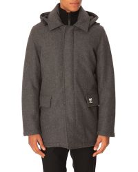 Kenzo Grey Coat With Removable Lining - Lyst