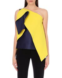 Roksanda Colour-Blocked Asymmetric Crepe Top - For Women - Lyst
