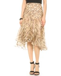 Zimmermann Tamer Tiger Chevron Skirt - Lyst
