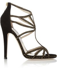 Jimmy Choo Vendetta Swarovski Crystalembellished Suede Sandals - Lyst