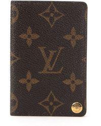 Louis Vuitton Brown Monogram Card Case brown - Lyst