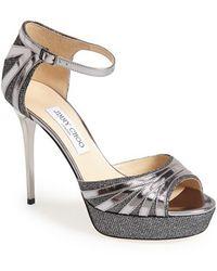 Jimmy Choo Women'S 'Deema' Metallic Leather Platform Sandal - Lyst