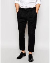 Adpt | Wool Casual Pants In Slim Fit | Lyst