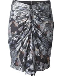 Isabel Marant Gray Fitted Skirt - Lyst