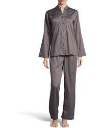 Donna Karan New York Pintucked Sateen Pajama Set - Lyst