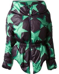 Vivienne Westwood Anglomania Cinged Waist Padded Stars Coat - Lyst