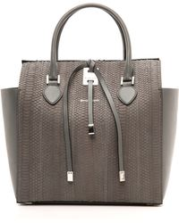 Michael Kors Collection Miranda Large Snakeskintote Slate - Lyst