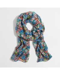 J.Crew Factory Lightweight Long Printed Scarf - Lyst