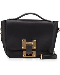 Sophie Hulme Mini Flap Soft Leather Shoulder Bag - Lyst