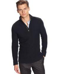 Calvin Klein Quarter Zip Sweater - Lyst